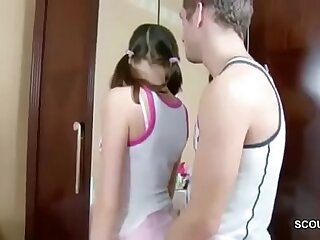 Bro Seduce Extrem Skinny Step-sister to Fuck her Anal