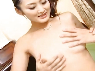 Risa Murakami gets tools to lick and uses vibrator before fuck