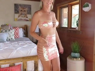 Very sexy youtibe star i shiny skirts and dresses to make you CUM!!