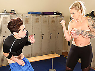 Anal lover MILF Ryan Conner got a little pervert in the locker room