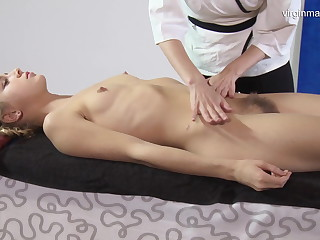 Virgin pussy massage for Rita Mochalkina