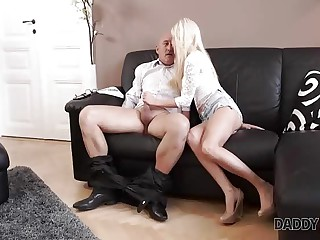 DADDY4K. Massage then old and young sex makes GF