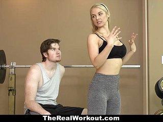 TheRealWorkout - Hot Milf (Sarah Vandella) Fucks Fitness Client