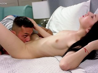 Emily Insomnia and Renato. First time Vaginal and anal defloration! The coolest and the most exciting video you ever seen! At first, his huge penis breaks her virgin tribe. Then a huge penis penetrates her virgin ass!