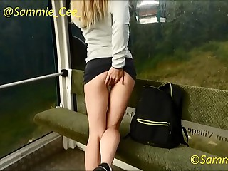 Risky Public Cable Car Dildo Fuck Preview